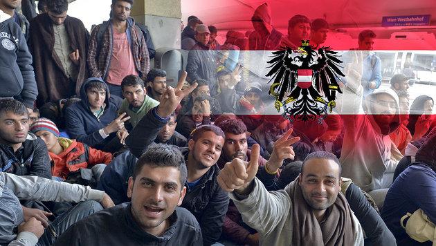Zehntausende per Asyl in nur 6 Jahren Österreicher (Bild: APA/Herbert Neubauer, thinkstockphotos.de)