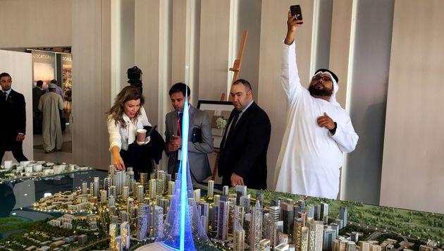 """Mit """"The Tower"""" übertrifft sich Dubai selbst (Bild: APA/AFP/MARWAN NAAMANI)"""