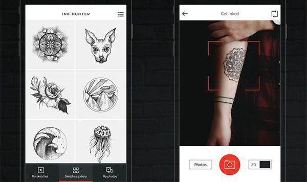 """Tattoo-App sucht euch perfektes Motiv (Bild: InkHunter)"""
