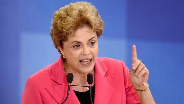 Brasiliens Präsidentin Rousseff vor dem Sturz (Bild: AFP or licensors)