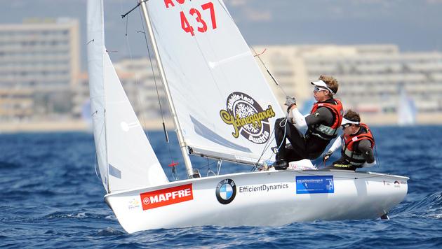 Bargehr/Mähr als Fünfte an EM-Medaille vorbei (Bild: APA/HANS KLAUS TECHT)