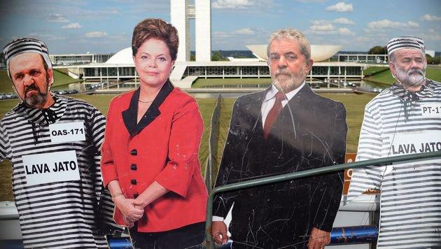 Brasiliens Pr�sidentin Rousseff vor dem Sturz (Bild: AFP or licensors)