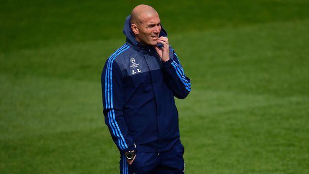 Gegen Wolfsburg steht Zidanes Vertrag am Spiel (Bild: AFP)