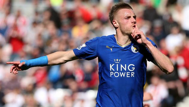 Kein Schusstraining für Leicester-Stürmer Vardy (Bild: AP)
