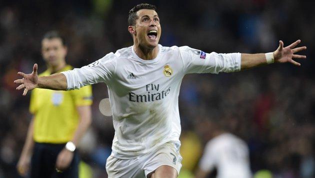 Ronaldo-Show rettet Real: 3:0-Sieg gegen Wolfsburg (Bild: APA/AFP/JAVIER SORIANO)