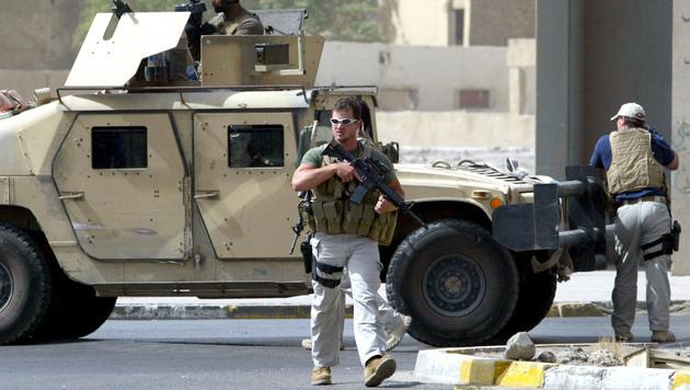 Blackwater-Söldner im Irak (2005) (Bild: Ahmad Al-Rubaye/AFP/picturedesk.com)