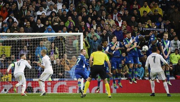 Ronaldo-Show rettet Real: 3:0-Sieg gegen Wolfsburg (Bild: APA/AFP/PIERRE-PHILIPPE MARCOU)