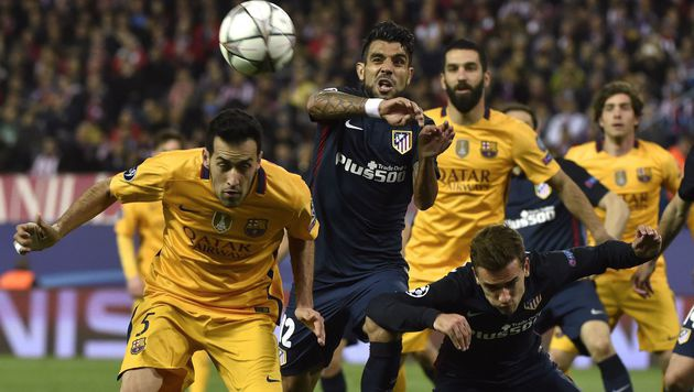 Atletico schmeißt Barcelona aus Champions League (Bild: AFP)