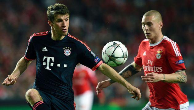 Bayern nach 2:2 gegen Benfica im Halbfinale (Bild: APA/AFP/FRANCISCO LEONG)