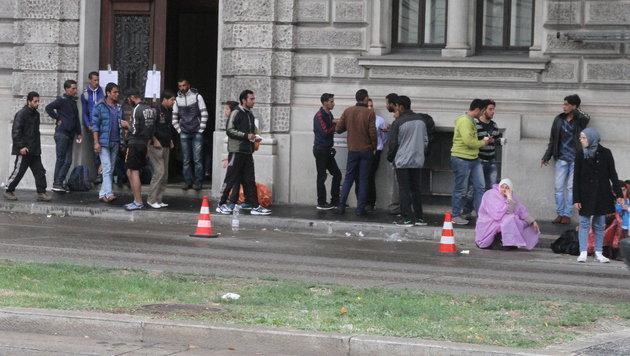 Aus finanziellen Gründen: Der Flüchtlingsstrom nach Wien wird weiter anhalten. (Bild: KRONEN ZEITUNG)