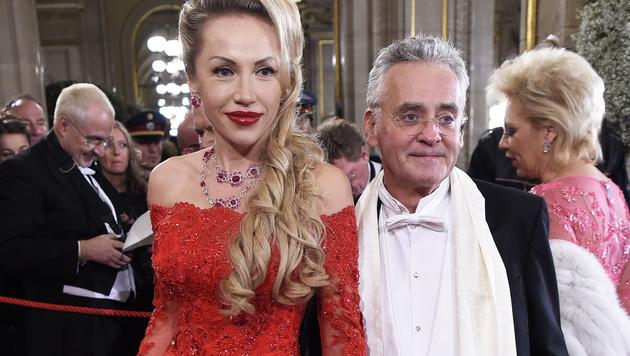 Christian Mucha mit Ehefrau Ekaterina (Bild: APA/HELMUT FOHRINGER)