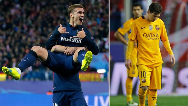 Atletico schmeißt Barcelona aus Champions League (Bild: AP)