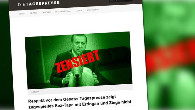 """""""Die Tagespresse"""" greift Affäre Böhmermann auf (Bild: dietagespresse.com)"""