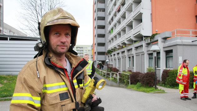 Feuerwehrmann Rudolf Fleschurz (Bild: Christoph Gantner)