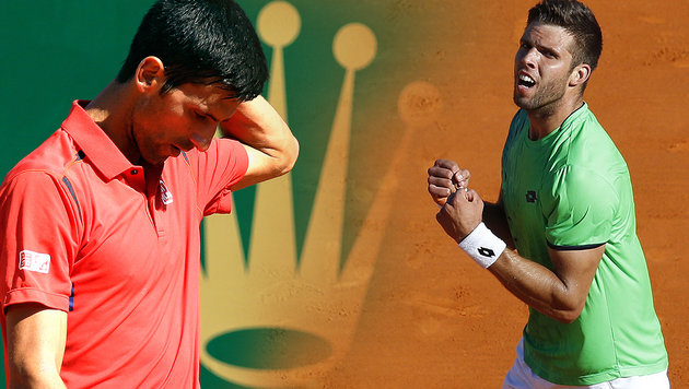 Sensation in Monte Carlo! Novak Djokovic out (Bild: AFP/VALERY HACHE, AP)