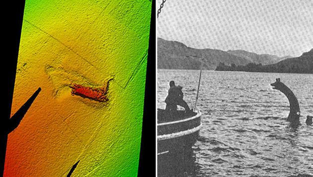 """""""Nessie"""" kam im Film """"Das Privatleben des Sherlock Holmes"""" zum Einsatz (Bild re.). (Bild: Kongsberg Maritime)"""