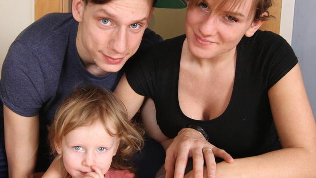 Melanie, Andreas und Tochter Chayenne (Bild: ATV)