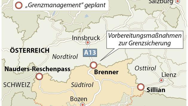 Mögliche Kontrollen am Brenner (Bild: APA)
