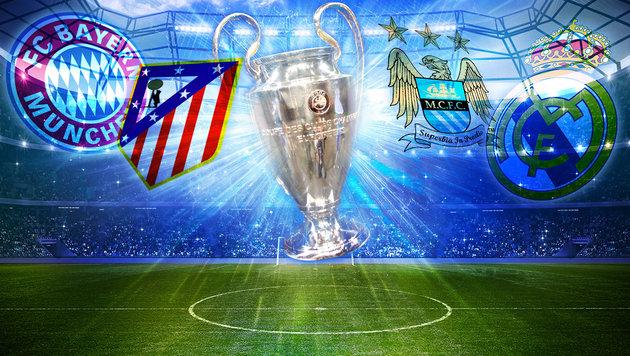 CL: Bayern gegen Atletico, ManCity fordert Real (Bild: thinkstockphotos.de,  Simela Pantzartzi/EPA/picturedesk.com)