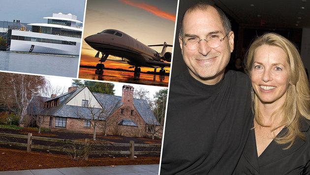 Das Mega-Vermögen der Steve-Jobs-Witwe (Bild: Viennareport, EPA, Flickr.com)