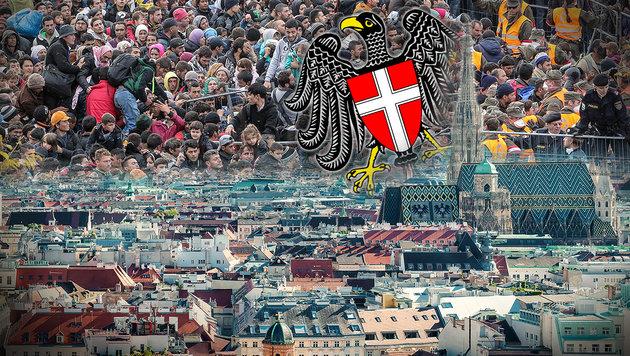 Warnung: Asylberechtigte ziehen sofort nach Wien! (Bild: EXPA/ PIXSELL/ Sasa Despot/Zurnal24l, thinkstockphotos.de)