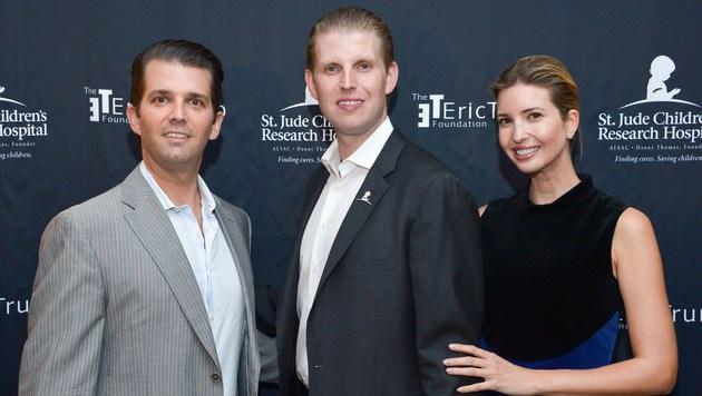Donald jr., Eric und Ivanka Trump (Bild: AFP)
