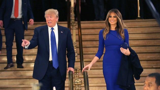 Donald Trump und seine Melania: Nähe sucht man hier vergebens. (Bild: APA/AFP/GETTY IMAGES/CHIP SOMODEVILLA)