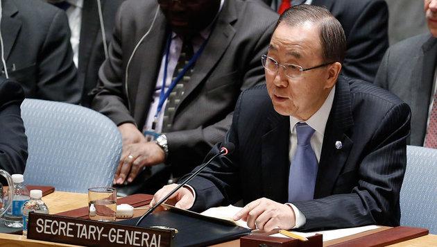 Ban Ki Moon bei der Sitzung des UN-Sicherheitsrates in New York (Bild: UN/Evan Schneider)