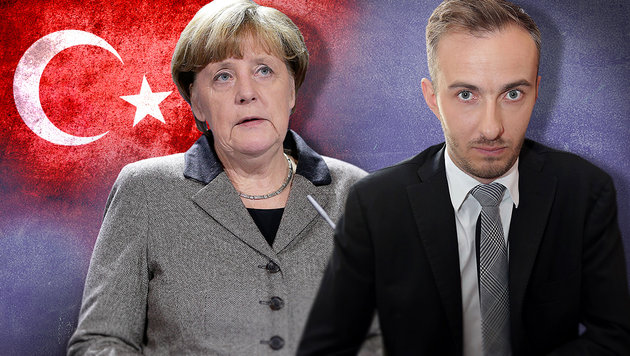 Böhmermann übt scharfe Kritik an Kanzlerin Merkel (Bild: APA/AFP/dpa/JORG CARSTENSEN, AP, thinkstockphotos.de)