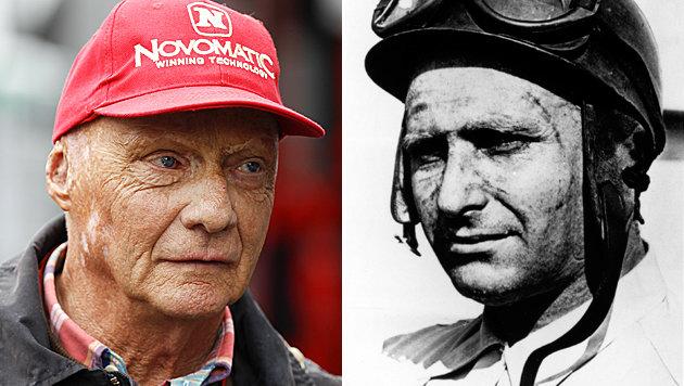 Fangio bester Pilot überhaupt, Lauda nicht Top-100 (Bild: APA/ERWIN SCHERIAU, dpa/Mercedes Benz Classic Archiv/Mercedes Be)