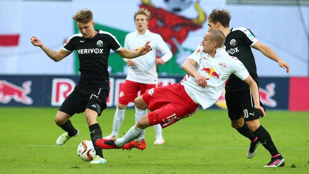 RB Leipzig blamiert sich daheim gegen Sandhausen! (Bild: GEPA)