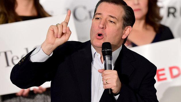 Ted Cruz liegt bei den US-Vorwahlen der Republikaner derzeit hinter Donald Trump. (Bild: AFP)