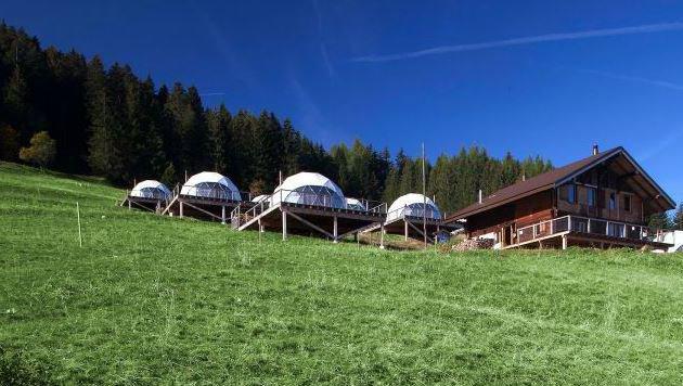 """""""So muss Traumurlaub! Die  13 coolsten Locations (Bild: Whitepod Hotel)"""""""