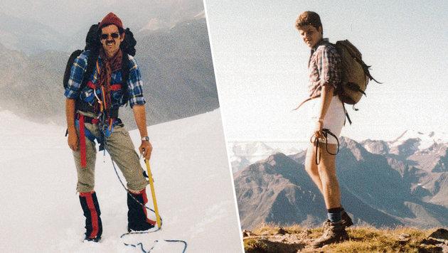Alexander und Florian Van der Bellen beim Bergsteigen (Bild: Privat)