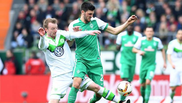 Junuzovic verhilft Bremen zum Sieg gegen Wolfsburg (Bild: GEPA)