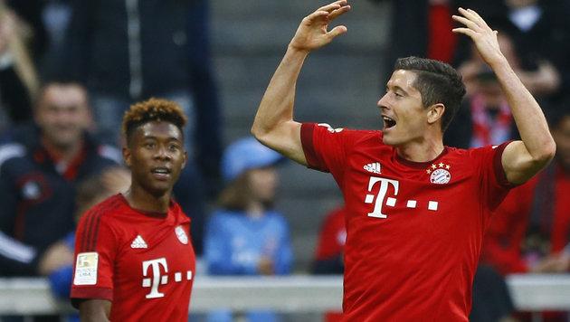 Alaba und Bayern jagen dem Meistertitel entgegen! (Bild: AP)