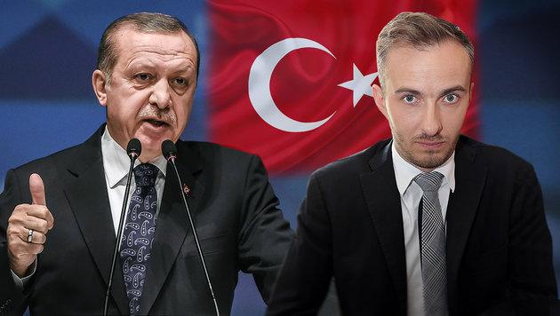 Recep Tayyip Erdogan, Jan Böhmermann (Bild: APA/AFP/OZAN KOSE, thinkstockphotos.de, APA/AFP/dpa/JORG CARSTEN)