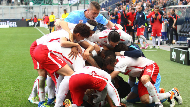 Leader Salzburg feiert Last-Minute-Sieg gegen Ried (Bild: GEPA)