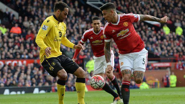 ManUnited besiegelt Abstieg von Aston Villa (Bild: AFP)