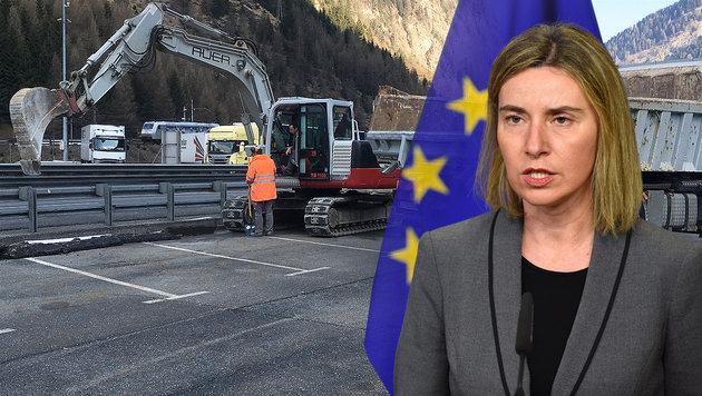 """""""Österreich soll keine Mauern errichten!"""" (Bild: APA/ZEITUNGSFOTO.AT, APA/AFP/John Thys)"""