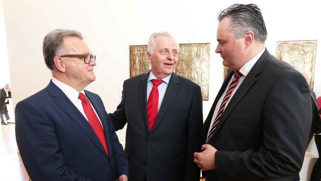 Niessl, Hundstorfer, Doskozil (Bild: Reinhard Judt)