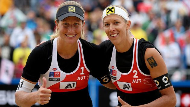 Schwaiger/Hansel überraschen mit Halbfinal-Einzug (Bild: GEPA)
