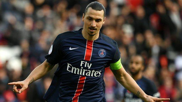 Zlatan Ibrahimovic fixiert persönlichen Torrekord (Bild: AFP)