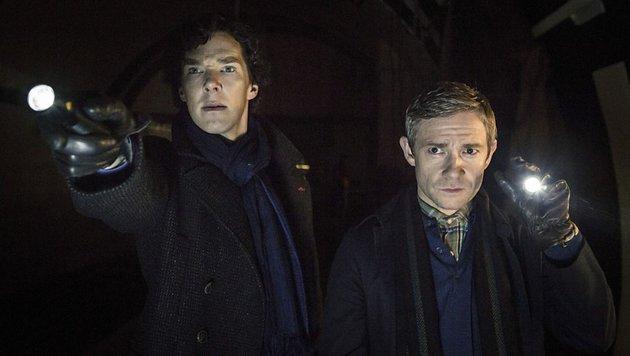 Sherlock Holmes und John Watson (Bild: BBC One)