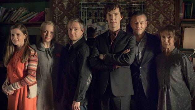 """Die Hauptdarsteller der Erfolgsserie """"Sherlock"""" (Bild: BBC One)"""