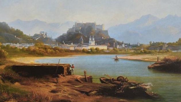Salzburg 1850 von Carl Friedrich Seiffert: Von Weitem eine Idylle, doch es herrschte bittere Not. (Bild: Museum Salzburg)