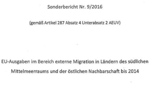 """Der Sonderbericht des EU-Rechnungshofs (Bild: """"Krone"""")"""