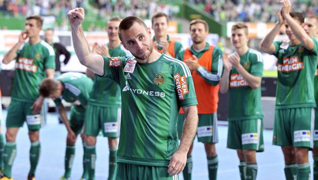 1:0-Erfolg im Derby! Rapid kann doch noch siegen (Bild: APA/HANS PUNZ)