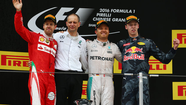 China-GP: Rosberg siegt vor Vettel, Hamilton 7. (Bild: GEPA)