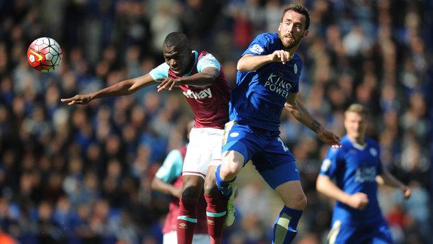 Leicester strauchelt: Nur 2:2 gegen West Ham! (Bild: AP)